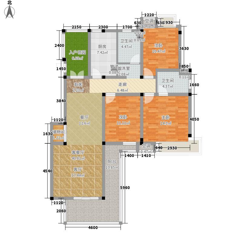 金地格林世界135.00㎡花园洋房C户面积13500m户型