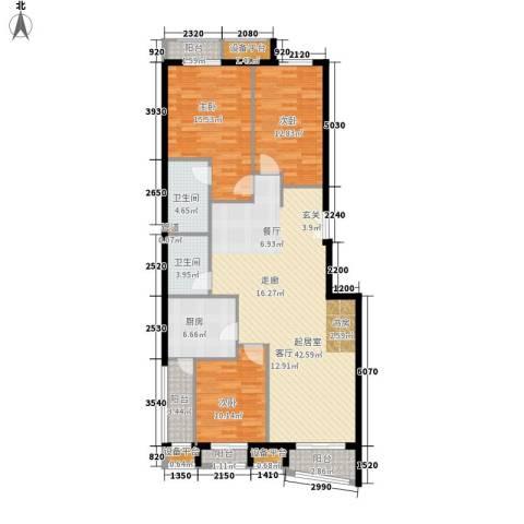 中海城香克林3室0厅2卫1厨145.00㎡户型图