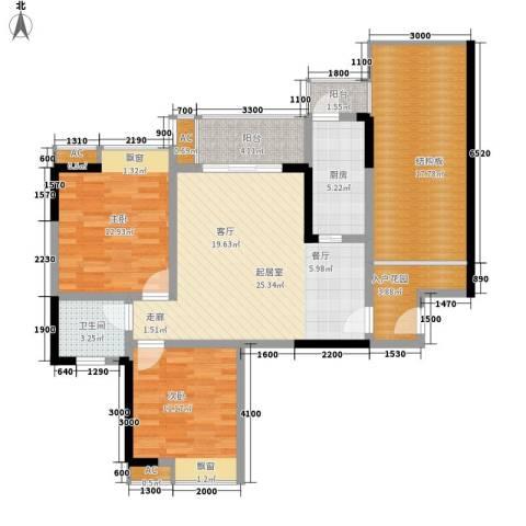 御廷上郡2室0厅1卫1厨108.00㎡户型图