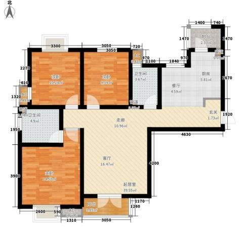 长瀛御龙湾3室0厅2卫0厨125.00㎡户型图