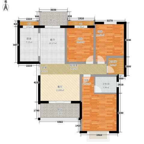天泰馨园3室0厅2卫1厨139.00㎡户型图