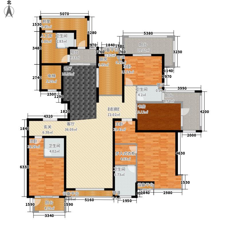 金屋秦皇半岛251.00㎡一区24号楼户型5室3厅