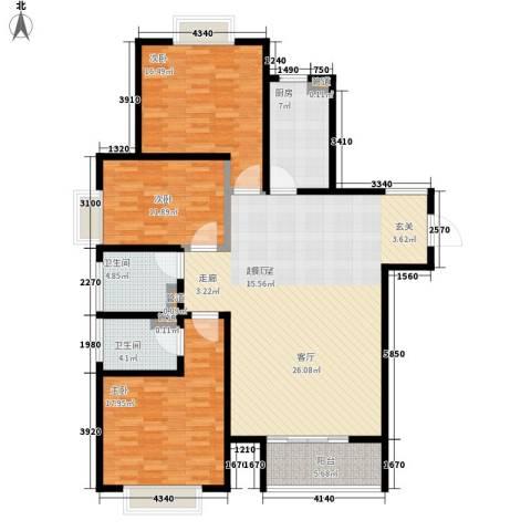 慧翔龙苑3室0厅2卫1厨132.00㎡户型图