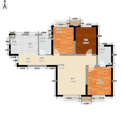 滨海智谛山3室0厅2卫0厨120.00㎡户型图