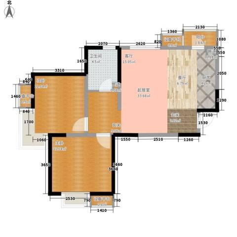 滨海智谛山2室0厅1卫0厨93.00㎡户型图