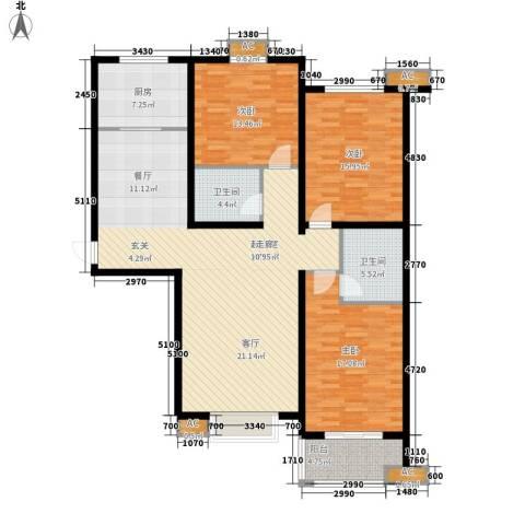 盛华园3室0厅2卫1厨130.00㎡户型图