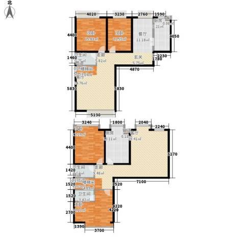 慧翔龙苑4室0厅3卫2厨212.22㎡户型图