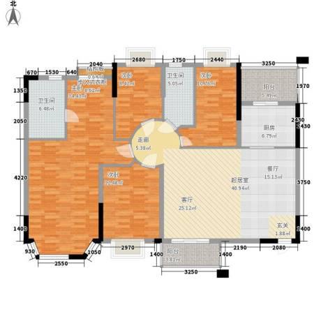 海伦堡御院4室0厅2卫1厨140.00㎡户型图