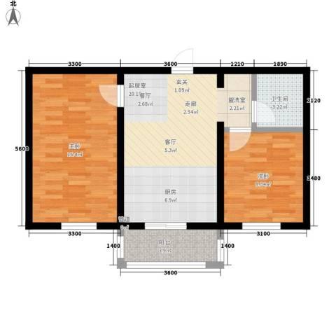 馨合佳园2室0厅1卫0厨67.00㎡户型图