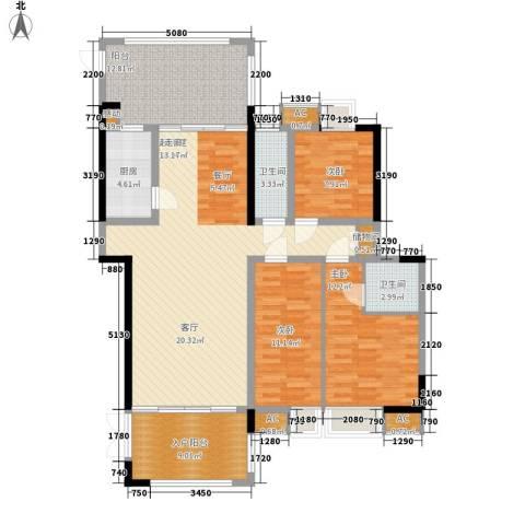 熙岸尚城二期3室0厅2卫1厨138.00㎡户型图