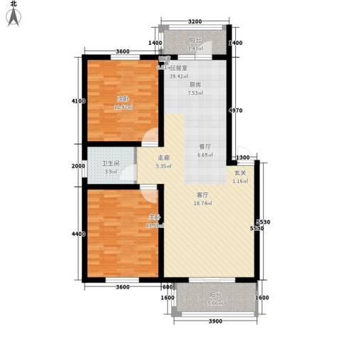 馨合佳园2室0厅1卫0厨101.00㎡户型图