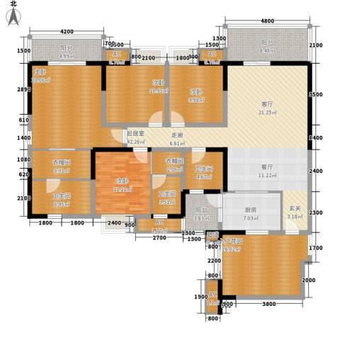 绿地翠谷4室0厅3卫1厨186.02㎡户型图