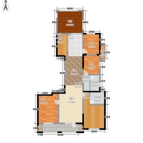 奥林清华御园5室1厅2卫1厨168.00㎡户型图