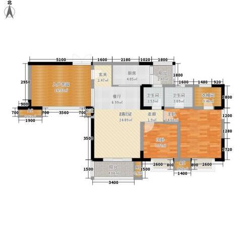 绿地翠谷2室0厅2卫1厨102.67㎡户型图
