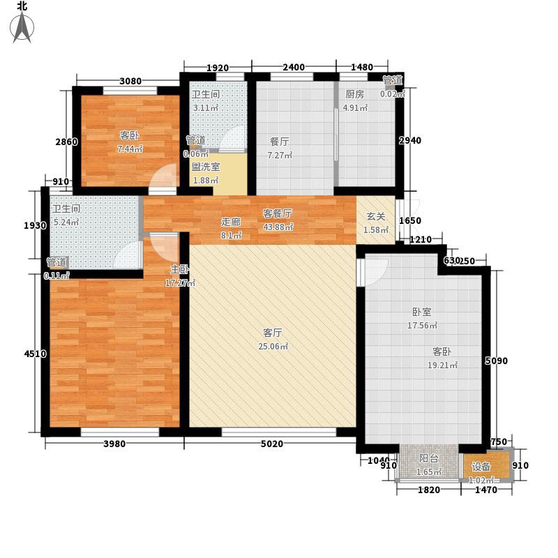 首创珐�墅洋房六层2户型图户型5室2厅3卫