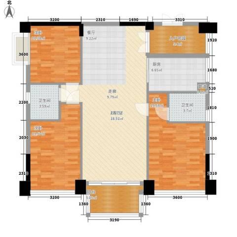 帝�东方3室0厅2卫1厨132.00㎡户型图
