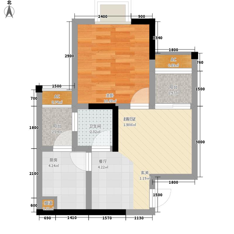 春语江山38.88㎡一期5号楼标准层1户型