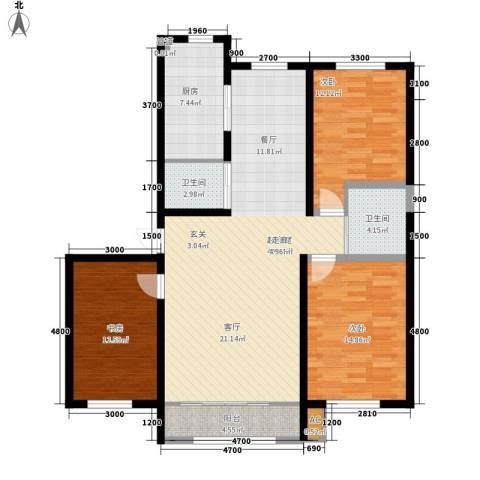 海威住宅小区3室0厅2卫1厨142.00㎡户型图