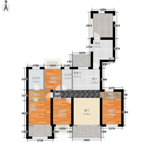 中海九号公馆4室1厅2卫1厨170.00㎡户型图