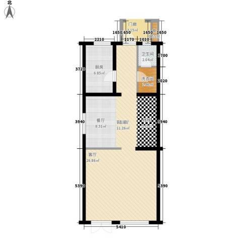 首创玲珑墅1厅1卫1厨191.00㎡户型图