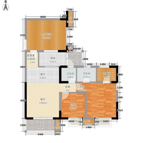 绿地翠谷2室0厅2卫1厨101.97㎡户型图