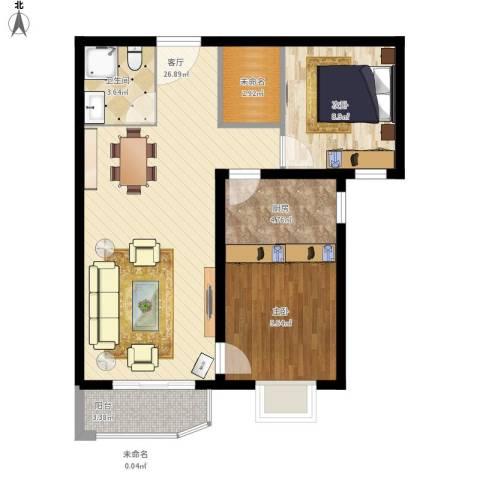 天洋城4代2室1厅1卫1厨85.00㎡户型图