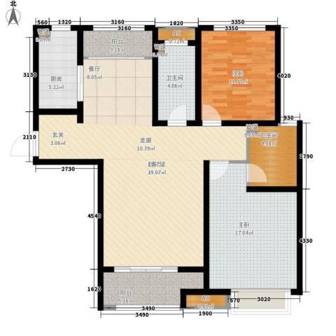 泉景天沅和园雅园2室0厅2卫1厨109.00㎡户型图