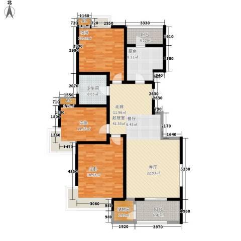 长瀛御龙湾3室0厅1卫1厨130.00㎡户型图