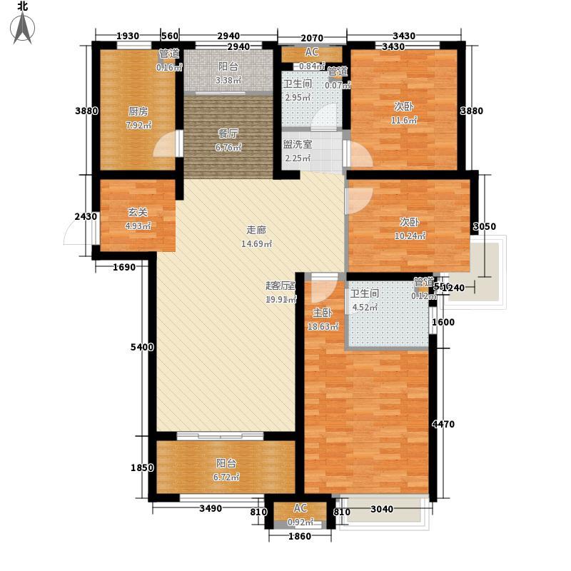 泉景天沅和园雅园133.00㎡2号楼1面积13300m户型