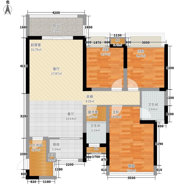 富兴汇中央116.00㎡B户型3室2厅