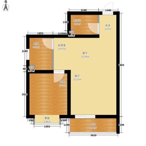 国宾豪庭1室0厅1卫1厨47.00㎡户型图