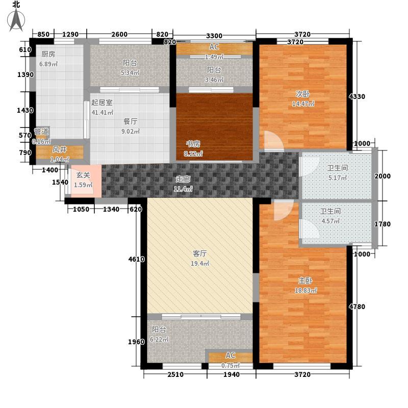 水晶湖郡135.11㎡半岛高层2#楼A梯0户型
