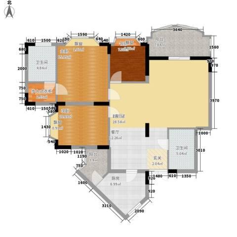 佳华世纪新城3室0厅2卫1厨145.00㎡户型图