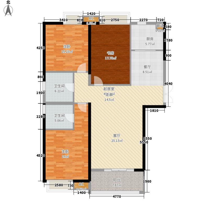 升龙天玺138.76㎡1#2#楼D1户型