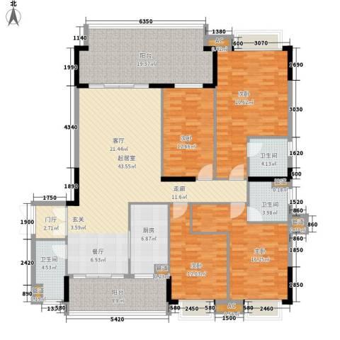 大湖一号4室0厅3卫1厨175.00㎡户型图