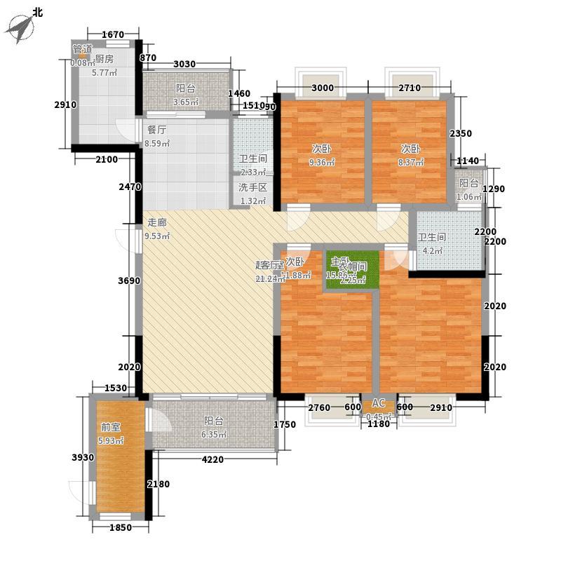 湘翰御舍151.77㎡C22面积15177m户型