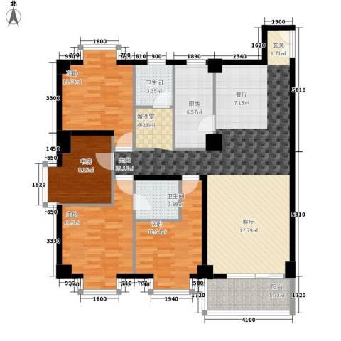 时代先锋4室0厅2卫1厨156.00㎡户型图