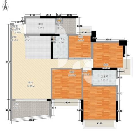 盈彩美居4室0厅2卫1厨131.00㎡户型图