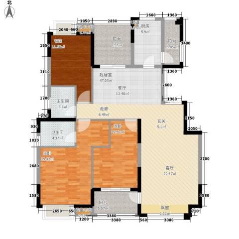 中海国际社区3室0厅2卫1厨138.00㎡户型图