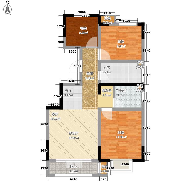 首创城A户型3室2厅1卫