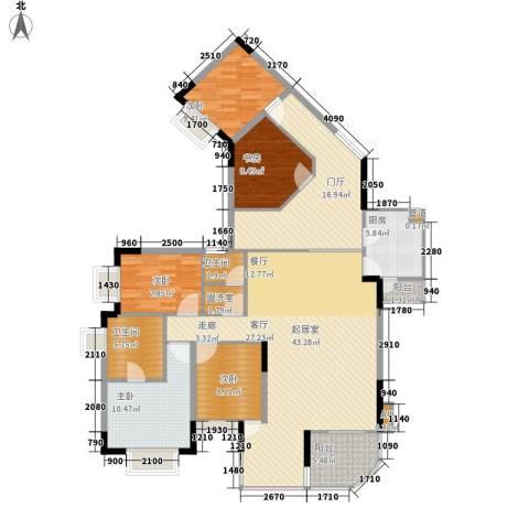 同创奥韵5室0厅2卫1厨140.00㎡户型图