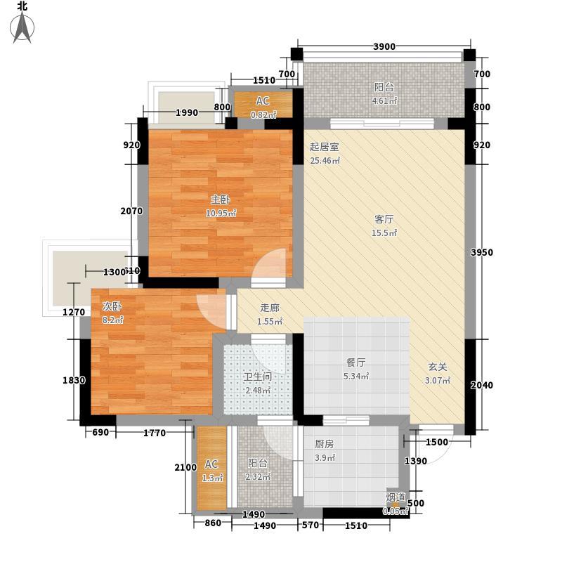 春语江山一期7号楼标准层4号户型