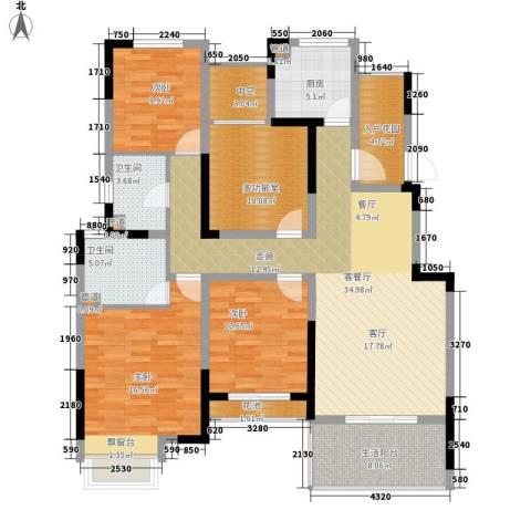 世茂公元3室1厅2卫1厨134.00㎡户型图