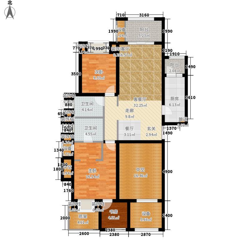 龙湖两江新宸125.84㎡A3-1户型3室2厅