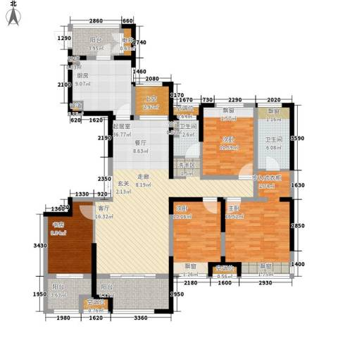 徐州铜山万达广场4室0厅2卫1厨143.00㎡户型图