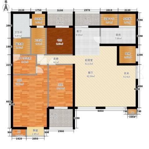 新浦江城3室0厅2卫1厨170.00㎡户型图