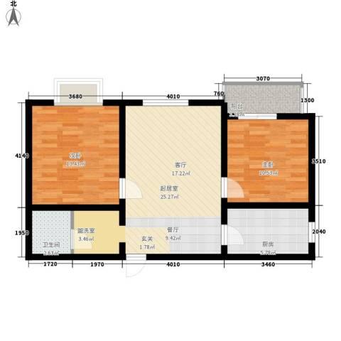华豪丽晶2室0厅1卫1厨78.00㎡户型图