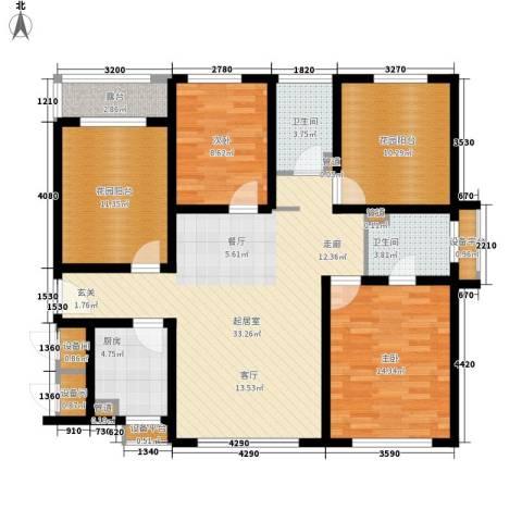 津沽首府2室0厅2卫1厨113.00㎡户型图