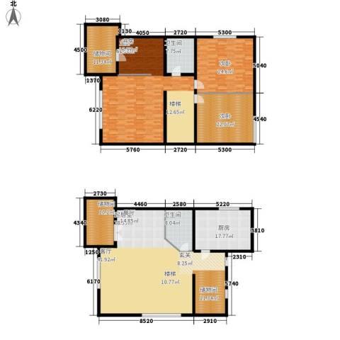 爱尚泾渭X23室0厅2卫1厨241.75㎡户型图