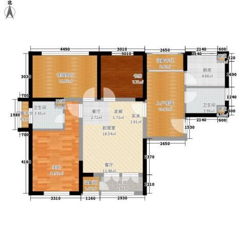 津沽首府2室0厅2卫1厨93.00㎡户型图